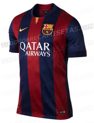 Esta es la nueva camiseta del FC Barcelona 2014-2015 a93bcfec93620