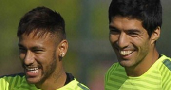 neymar luis suarez felicitacion