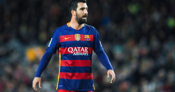 BARCELONA, SPAIN - JANUARY 06:  Arda Turan of FC Barcelona looks on during the Copa del Rey Round of 16 first leg match between FC Barcelona and RCD Espanyol at Camp Nou on January 6, 2016 in Barcelona, Spain.  (Photo by David Ramos/Getty Images)