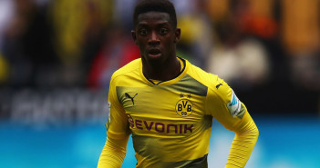 DORTMUND, GERMANY - MAY 20:  Ousmane Dembele of Borussia Dortmund in action during the Bundesliga match between Borussia Dortmund and Werder Bremen at Signal Iduna Park on May 20, 2017 in Dortmund, Germany.  (Photo by Dean Mouhtaropoulos/Bongarts/Getty Images)