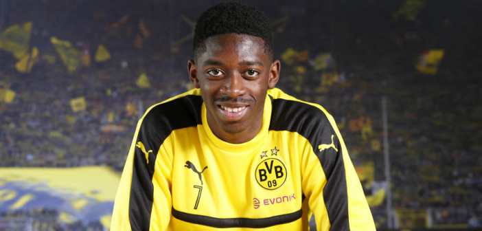 Dortmund's French midfielder Ousmane Dembele is pictured during an interview with AFP, on February 16, 2017 in Dortmund, western Germany, at the teams training ground. / AFP / Norbert SCHMIDT        (Photo credit should read NORBERT SCHMIDT/AFP/Getty Images)
