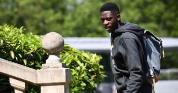 France's forward Ousmane Dembele arrives in Clairefontaine-en-Yvelines, southern Paris on May 30, 2017 to take part in the team's preparation for the upcoming World Cup 2018 qualifiers against Sweden on June 9, and the friendly football matches against Paraguay and England on June 2 and 13.   / AFP PHOTO / FRANCK FIFE        (Photo credit should read FRANCK FIFE/AFP/Getty Images)