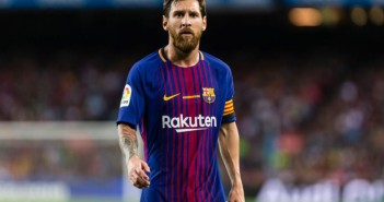 Lionel Messi of FC Barcelona during the match between FC Barcelona vs Real Betis Balompie, for the round 1 of the Liga Santander, played at Camp Nou Stadium on 20th August 2017 in Barcelona, Spain. (Photo by Urbanandsport/NurPhoto via Getty Images)