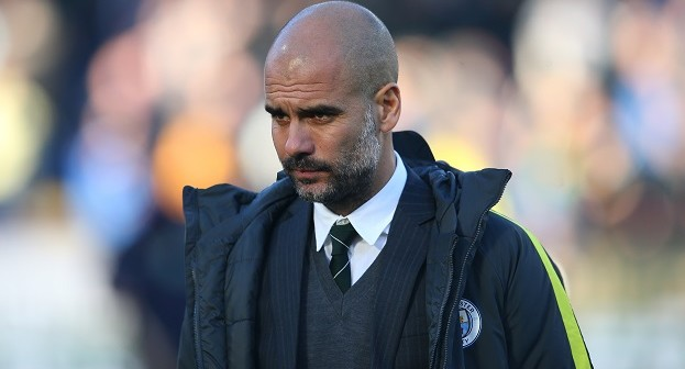 BURNLEY, ENGLAND - NOVEMBER 26:  Josep Guardiola, Manager of Manchester City is seen prior to the Premier League match between Burnley and Manchester City at Turf Moor on November 26, 2016 in Burnley, England.  (Photo by Alex Livesey/Getty Images)