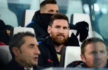 Soccer Football - Champions League - Juventus vs FC Barcelona - Allianz Stadium  Turin  Italy - November 22  2017  Barcelona  s Lionel Messi on the substitutes bench   REUTERS Massimo Pinca