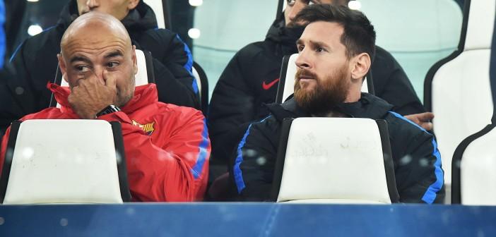 TUR519. TURÍN (ITALIA), 22/11/2017.- El jugador del Barcelona Lionel Messi hoy, miércoles 22 de noviembre de 2017, durante un partido entre el Juventus FC y el FC Barcelona por el grupo D de la Liga de Campeones de la UEFA, en el estadio Allianz de Turín (Italia). EFE/Alessandro Di Marco