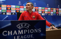 Soccer Football - Champions League - FC Barcelona Press Conference - Ciutat Esportiva Joan Gamper, Barcelona, Spain - March 13, 2018   Barcelona coach Ernesto Valverde during the press conference   REUTERS/Albert Gea - RC1C6A20D640