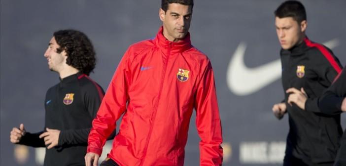 Gerard Lopez  Entreno FC Barcelona B  Foto  Javi Ferrandiz