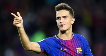 BARCELONA, SPAIN - SEPTEMBER 19:  Denis Suarez of FC Barcelona celebrates after scoring his team's third goal during the La Liga match between Barcelona and SD Eibar at Camp Nou on September 19, 2017 in Barcelona, Spain.  (Photo by David Ramos/Getty Images)
