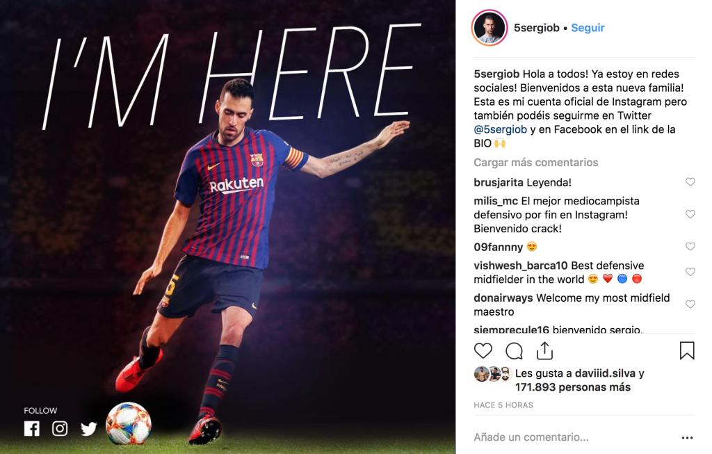 Instagram Sergi Busquets