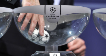 NYON, SWITZERLAND - JUNE 24:  Gianni Infantino, UEFA General Secretary, draws a ball during the UEFA Champions League Q2 qualifying round draw at the UEFA headquarters on June 24, 2013 in Nyon, Switzerland.  (Photo by Harold Cunningham/Getty Images)