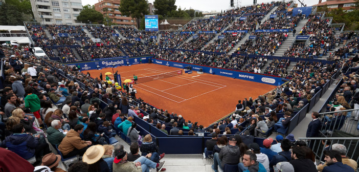 BARCELONA, SPAIN - APRIL 28:  ATP Barcelona Open Banc Sabadell at the Real Club de Tenis Barcelona on April 29, 2019 in Barcelona, Spain. (Photo by Pedro Salado)