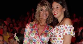 "Presenter Arancha de Benito and daugther Zaira Gutierrez at the front row of "" AgathaRuizDe aPrada "" during Pasarela Cibeles Fashion Week Madrid in Madrid on Monday , 08 July 2019."